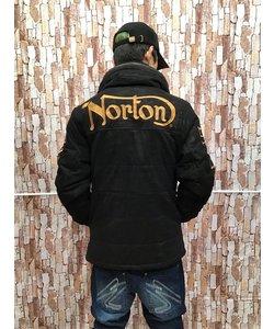 NORTON カモ柄フェイクスウェードボリュームネックJKT