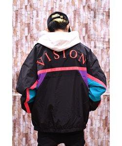 【VISION STREET WEAR】レトロスポーツビッグシルエットナイロンジャケット/トラックジャケット