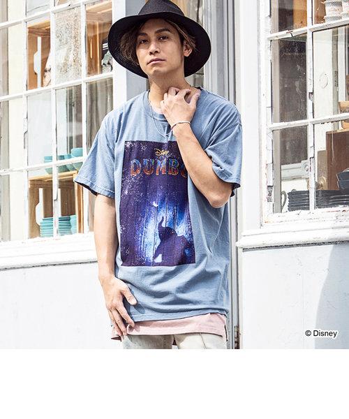163(イチロクサン) DUMBO デザインヴィンテージライクTシャツ(ホワイト/ネイビー)