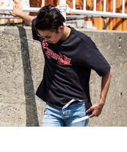 163(イチロクサン) Cypress Hill 裾テープ付ビッグTシャツ(ブラックA/ブラックB/ブラックC)
