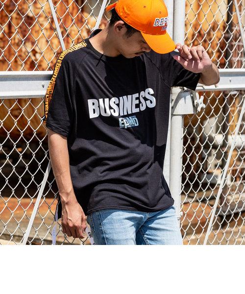 163(イチロクサン) EPMD 裾テープ付ビッグTシャツ(ブラックA/ブラックB)