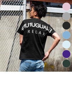 1PIU1UGUALE3 RELAX(ウノピゥウノウグァーレトレ) バックロゴプリントTシャツ