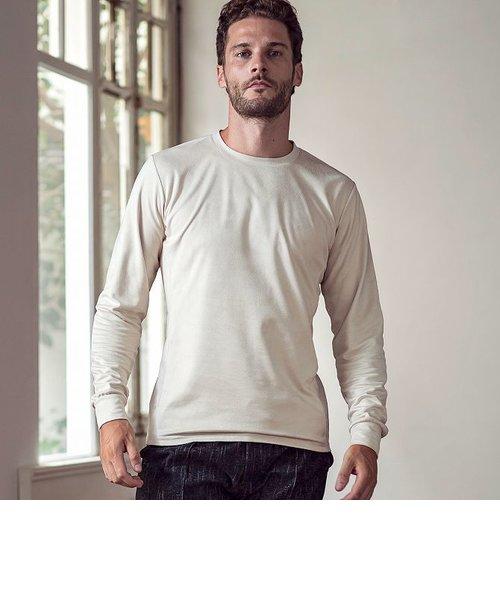 1PIU1UGUALE3 RELAX エコスウェードロングTシャツ (カーキ/ベージュ/ホワイト/ブラック)