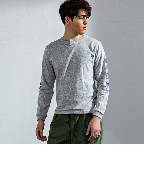 NUMBER (N)INE DENIM(ナンバーナインデニム)スリーブラインロゴロングTシャツ(ホワイト/ブラック/グレー/パープル)