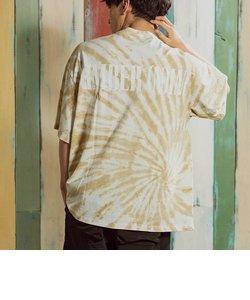 NUMBER (N)INE DENIM(ナンバーナインデニム)タイダイバックロゴTシャツ(ブラック/ベージュ/ブルー)