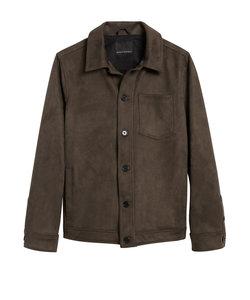 ヴィーガンスエード シャツジャケット
