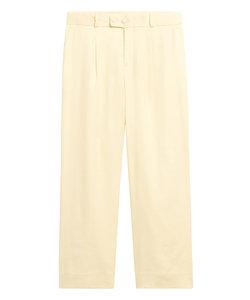 Logan Trouser-Fit リネンコットン クロップドパンツ