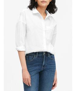 オーバーサイズ ポプリンシャツ