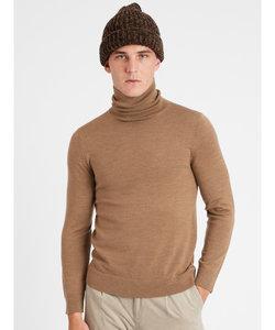 イタリアンメリノ タートルネックセーター