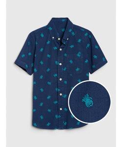 パイナップル ボタンダウンシャツ (キッズ)
