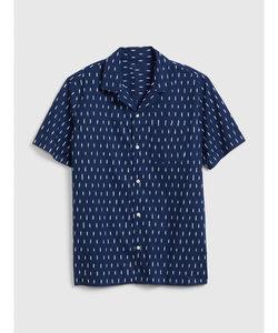 迷彩ポプリン半袖シャツ