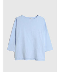 厚手ボートネック チュニックtシャツ