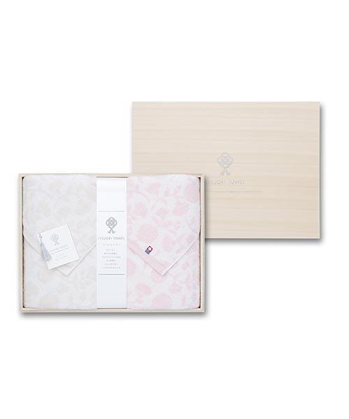 【今治タオル】逸織タオル 《みずめ》 バスタオル 2枚セット(ピンク・グレー)