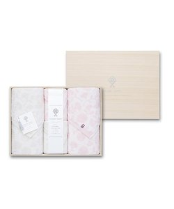 【今治タオル】逸織タオル 《みずめ》 バスタオル 2枚(ピンク・グレー)、フェイスタオル 2枚(ピンク・グレー)セット