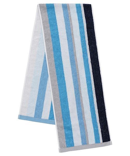 【日本製、冷感タオル】接触冷感でひんやり!クールスポーツタオル(ブルー)