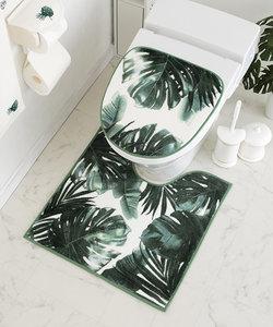 【抗菌防臭、洗える、トイレマット】ウッディーグリーン トイレマット 60×60cm ベージュ