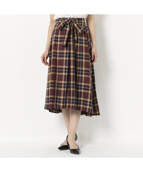 【 WEB限定有 】 ビックチェックフィッシュテールスカート