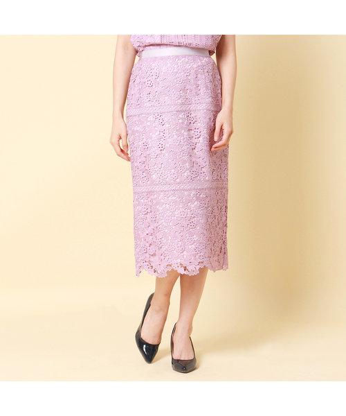 【舞川あいくさん着用】ハートケミカルレーススカート