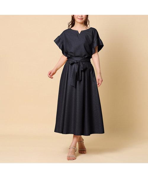 【セットアップ対応】ウエストリボンマルチウエイスカート