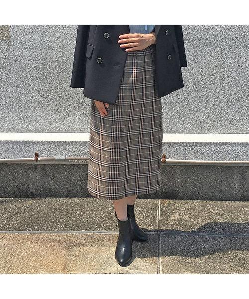チェックタイトスカート【セットアップ可】