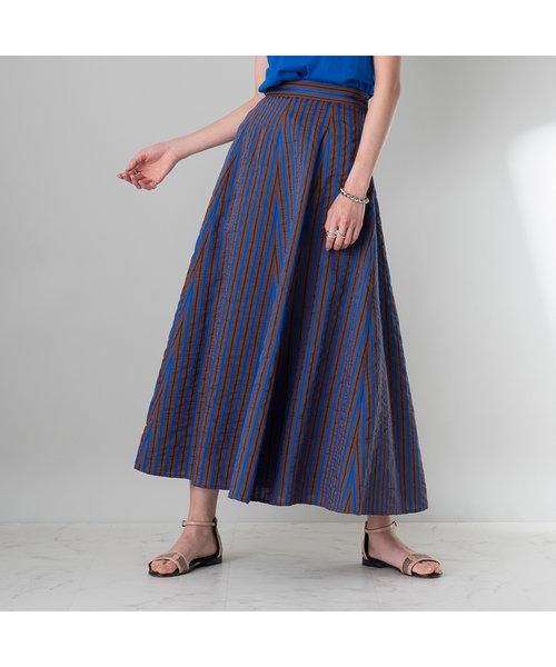 ストライプフレアースカート【セットアップ可】