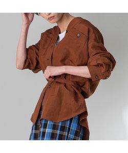 ベルト付きワークシャツジャケット