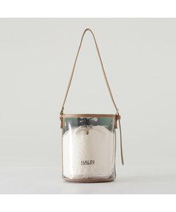 【HALIN】バイカラーミニバケツバッグ