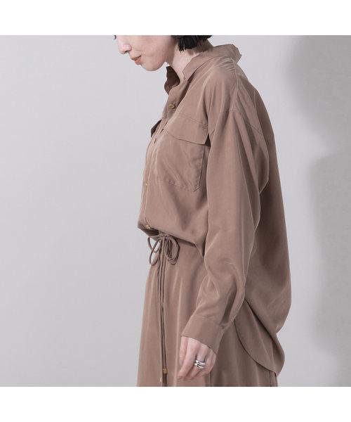 パウダーシフォンワークシャツ【セットアップ可】