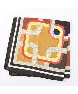 幾何柄大判スカーフ