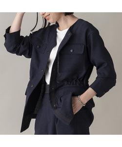 リネンライクワークジャケット【セットアップ可】