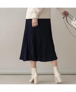ベルト付きニットフレアスカート【セットアップ可】