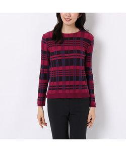 マルチカラーチェックのセーター