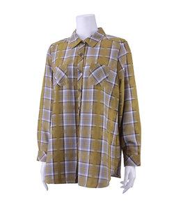 朱子織チェックシャツ