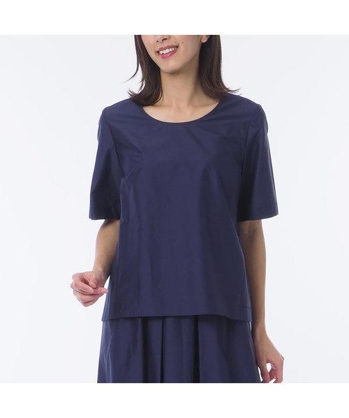 米沢織 綿シルクローン プルオーバーブラウス【大きいサイズ】