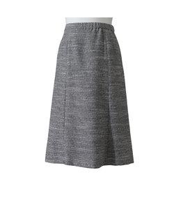 ラメ入りストレッチツイード フレアースカート【大きいサイズ】【セットアップ対応】