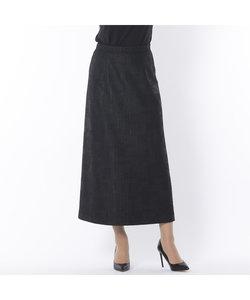 フェイクレザージャージー セミフレアースカート【大きいサイズ】