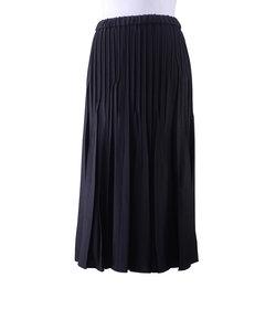 ウール混ツイル オールゴムプリーツスカート