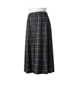 ストレッチチェック フレアースカート