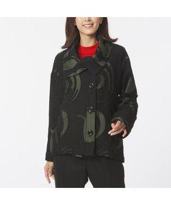 米沢織 サークル柄 ウールジャケット