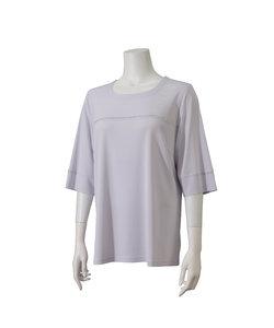 ジョイクール ラインストーン付き半袖Tシャツ【大きいサイズ】