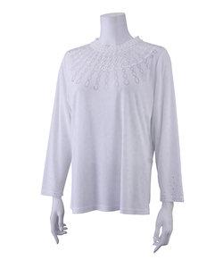 レース刺繍×ラインストーン エレガンスTシャツ
