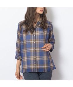 タータンチェック・スタンドカラーシャツ
