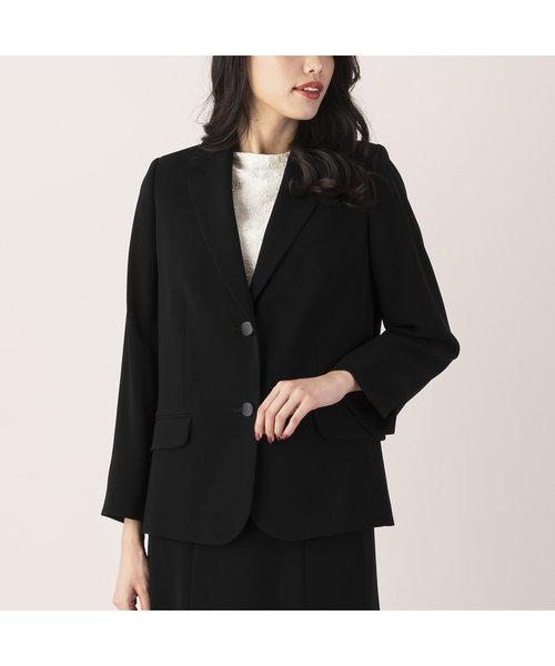 【フォーマルブラック】縦二重織りテーラードジャケット【セットアップ対応可】
