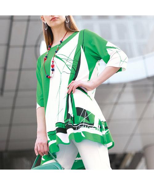 ドイツ製ビックヨットプリント チュニックTシャツ
