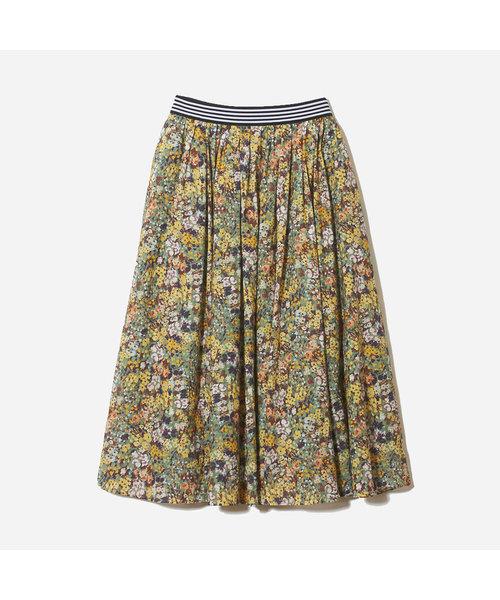 フレンチフローラルプリントスカート