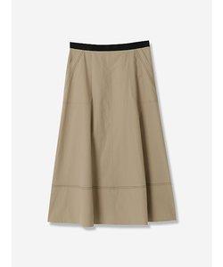 カラーステッチパッチポケットスカート