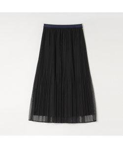 ソフトチュールプリーツスカート