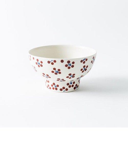 小紋赤飯碗 小