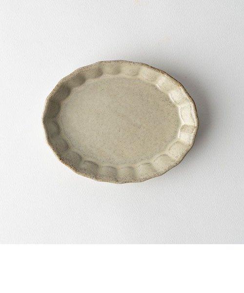 プリーツ楕円小皿