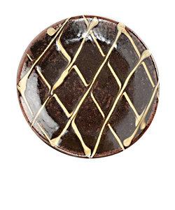 丹窓窯 イッチン皿/ナナメスリップ皿 3.5寸 飴